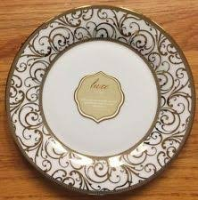 Ciroa Luxe Gold Veluto Dinner Plates Set of 4 NEW