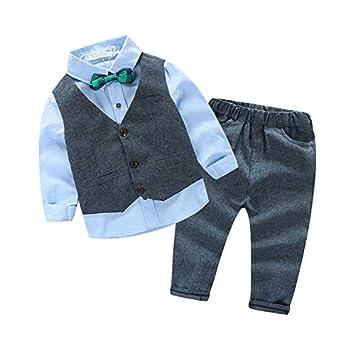 4fc4a6ad0374d Baoblaze ベビー スーツ フォーマル ベスト付き 男の子 ボーイ 入園式 結婚式服 パーティー 記念日