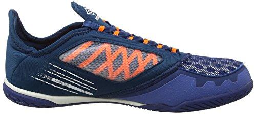 Umbro Herren Vision Plus Pro Fußballschuhe Blau (Navy Peony / White / Shocking Orange)