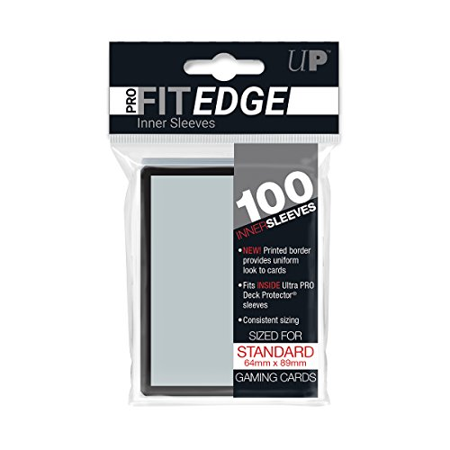 Ultra Pro Standard Size PRO-Fit Edge Deck Protector Sleeves w/ Black Border (100 ct.)