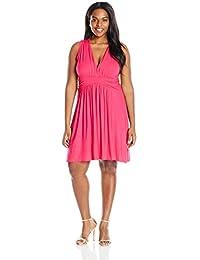 Women's Plus-Size Sleeveless Summer Sun Dress