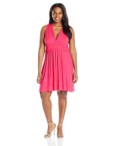 Star Vixen Women's Plus-Size Sleeveless Summer Sun Dress, Fuchsia, 3X