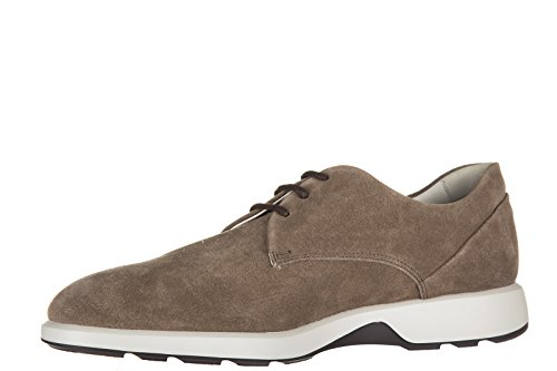 Hogan scarpe stringate classiche uomo in camoscio new dress derby liscio marrone