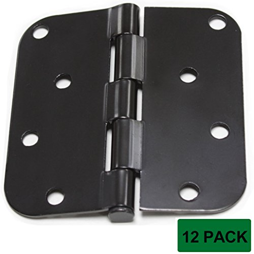 Probrico DH0404 Door Hinges 4 Inches By 4 Inches Black (12Pack)