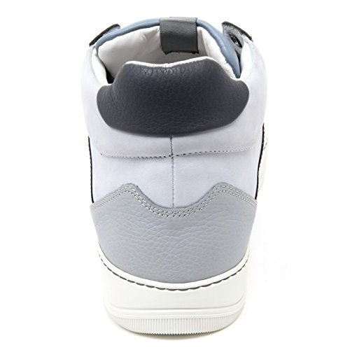 Lanvin Top Uomo C2850 Glol Sneaker Scarpa Scarpa Mid Azzurro Alta Uomo grigio rrFzP