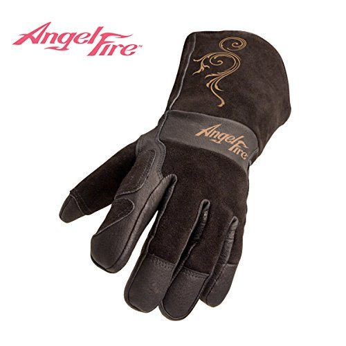 Revco AngelFire BSX LS50 Woman's Premium Grain Pigskin Welding Gloves, Large by Revco Industries