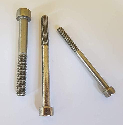 10 St/ück Zylinderschrauben//Zylinderkopfschrauben mit Innensechskant DIN 912 V2A Edelstahl M4//M5//M6//M8//M10 //// EHK-Verbindungstechnik M6 x 40