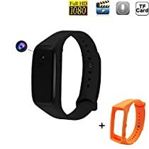 Jiusion 16GB 1920 x 1080P Full HD Bracelet Camera, Fitness Tracker Style Surveillance Dome Cam with Video Recording Photographing Function (16GB Memory Card)
