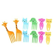 niceEshop(TM) Animals Food Picks and Forks Lovely Fruit Picks Forks Bento Decoration Box Lunch Box Party Accessories, BPA free 10pcs