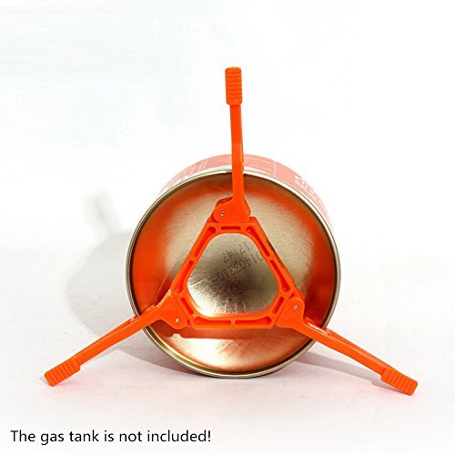 Bounabay Foldable Outdoor Camping Hiking Cooking Gas Tank Stove Stand Cartridge Canister Tripod