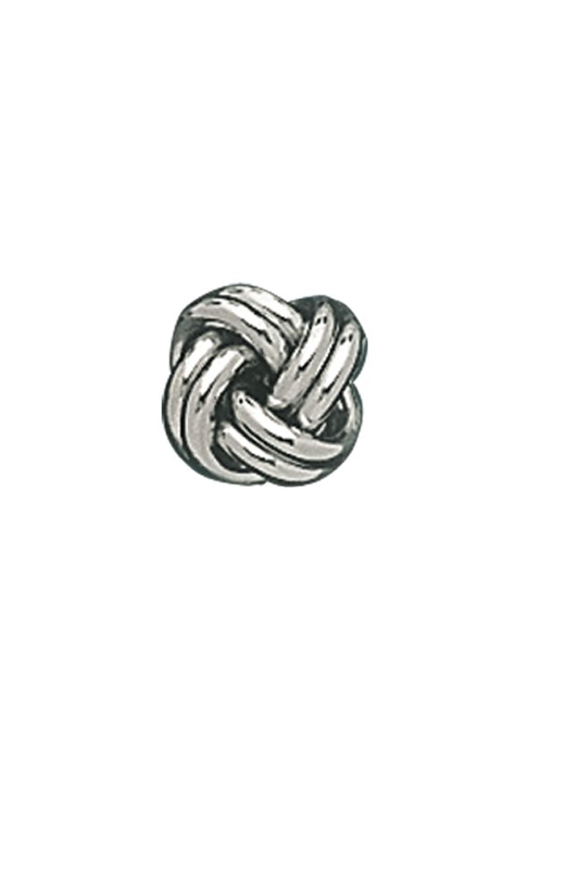 14K White Gold Solid Love Knot Tie Tac-86278
