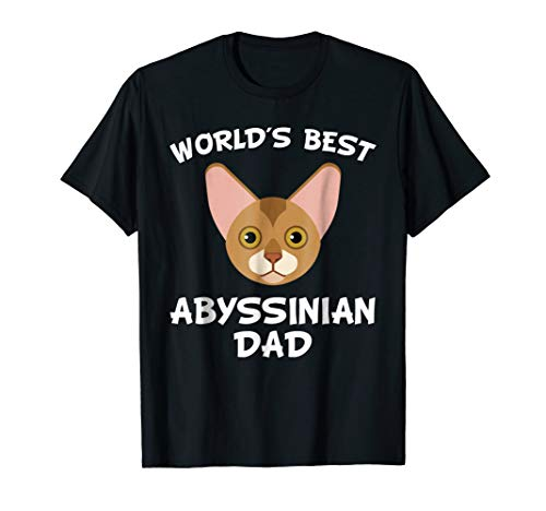 Mens World's Best Abyssinian Dad Cat Owner T-Shirt