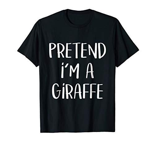 Pretend I'm A Giraffe Costume Funny Halloween Party T-Shirt -