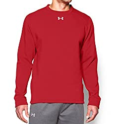 Under Armour Rival Fleece Team Crew Men's Top (Red, Large)