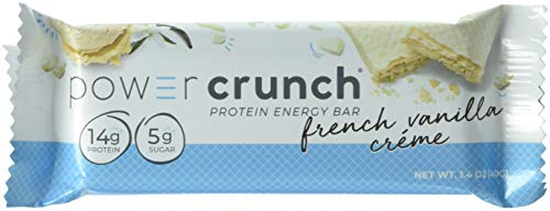 (Power Crunch Protein Energy Bar Orignal, French Vanilla Creme, 1.4-Ounce Bar (2 Pack of 12)