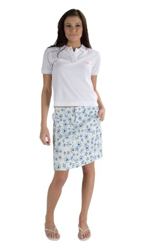 Blue Monomoy Skirt - Beach Print Design - 19 Inches - (16, Blue)