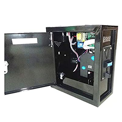 Tongmisi Timer Controller Box with 6 Multi Coins Selector Acceptor Power Supply with Coin Acceptor Timer for Arcade Coin Operated Machine ,Washing Machine, Massage Chair (220V): Toys & Games