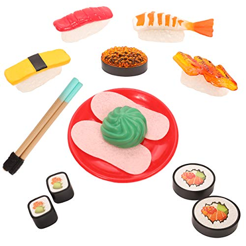 - IQ Toys Pretend Play Sushi Playset in Japanese Bento Box; 21 Pieces