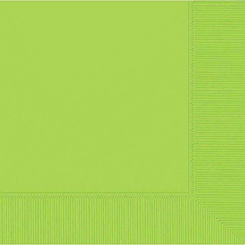 Amscan 3-Ply Kiwi Green Beverage Napkins 60015.53   Party Tableware 12 Pk TradeMart Inc