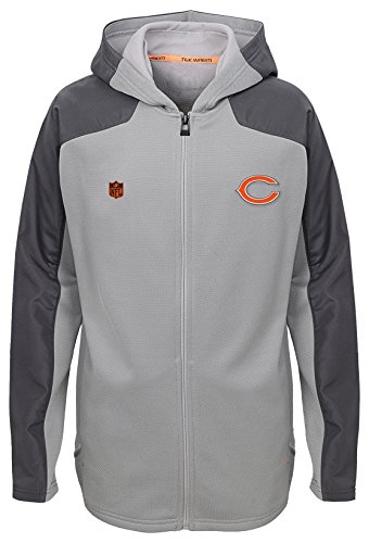 Chicago Bears Magna - Outerstuff NFL Youth Boys Delta Full Zip Jacket-Magna Pique Heather-M(10-12), Chicago Bears
