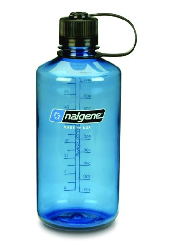 Nalgene Tritan 1-Quart Narrow Mouth BPA-Free Water Bottle, Slate - Bottle Slate
