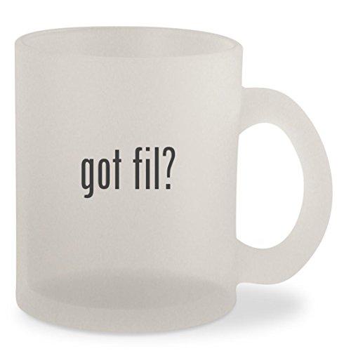 got fil? - Frosted 10oz Glass Coffee Cup Mug