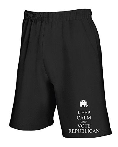 And Calm Tuta Nero Keep Tkc1490 T shirtshock Pantaloncini Republican Vote Y0qAaa