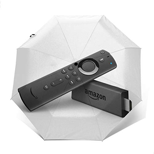 Fire TV Stick With Alexa Voice Remote Streaming Media Player Windproof Compact Auto Open And Close Folding Umbrella,Automatic Foldable Travel Parasol Umbrella