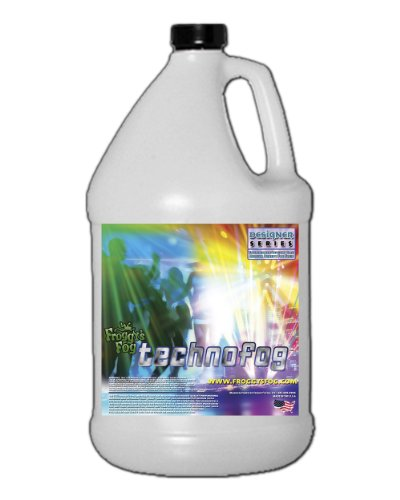 [Techno Fog ® - DJ Party Club & Mix - Premium Quality Fog Juice - 1 Gallon - Perfect Density Fog Machine Fluid for Event Lighting, Parties & DJs - American Made - Water Based Liquid for Small 400 Watt to Higher Wattage 1500 Watt] (The Fog Machine)