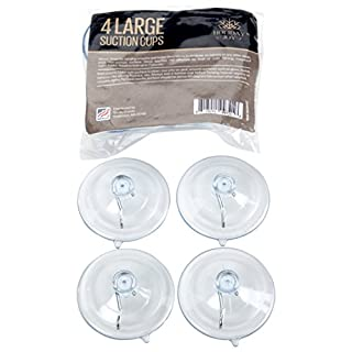 Holiday Joy - World's Strongest All Purpose 2-1/2 inch Suction Cups with Hooks - Made in USA (Large - 4 Pack)