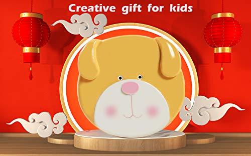 Baby Teeth Keepsake Fairy Storage Box Deciduous First Teeth Hair Holder for Girls Boys Kids Children Birthday Present (Yellow Dog)