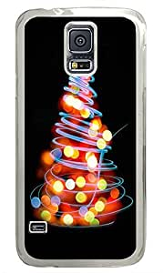 Samsung Galaxy S5 Glowing Lights Christmas Tree Illustration284 PC Custom Samsung Galaxy S5 Case Cover Transparent