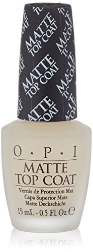 OPI Nail Lacquer Top Coat, Matte, 0.5 fl. oz. (Coat Matte)