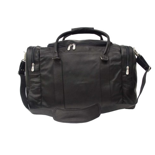 Classic Leather Carry On (Piel Leather Classic Weekend Carry-On, Black, One Size)
