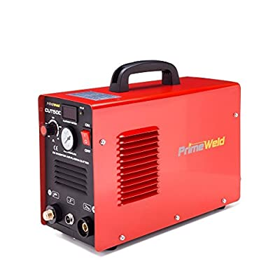 "PRIMEWELD Premium & Rugged 50A Air Inverter Plasma Cutter Automatic Dual Voltage 110/220VAC 1/2"" Clean Cut Portable"