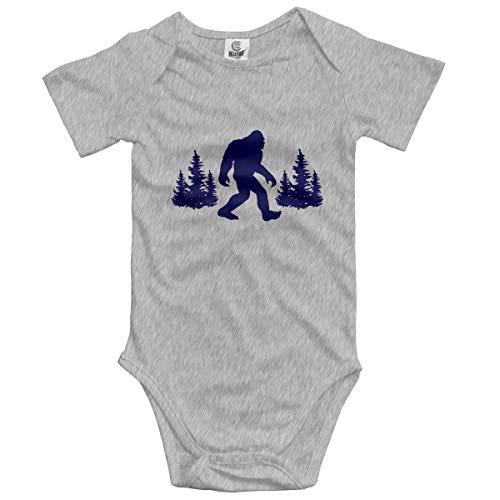 Hanfjj Kefdk Funny Blue Bigfoot Sasquatch Baby Short-Sleeve Bodysuit Baby Boys Girls