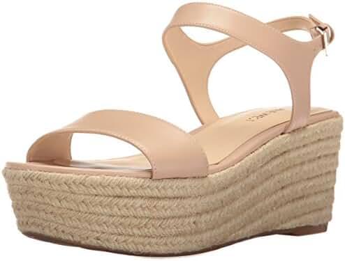 Nine West Women's Flownder Leather Wedge Sandal