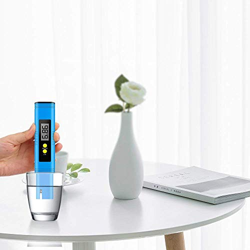 Yeslike Digital PH Meter, PH Meter 0.01 PH High Accuracy Water Quality Tester with 0-14 PH Measurement Range for Household Drinking, Pool and Aquarium Water PH Tester Design with ATC (Blue) by Yeslike (Image #2)