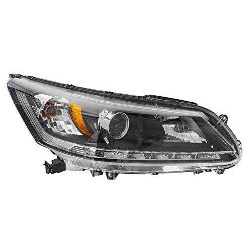 Honda Accord Rh Headlamp Light - Headlight Headlamp Halogen Passenger RH Side for 13-14 Honda Accord EX-L V6