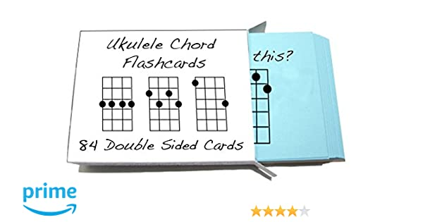 Amazon Ukulele Chord Symbol Flashcards 84 Cards For Soprano