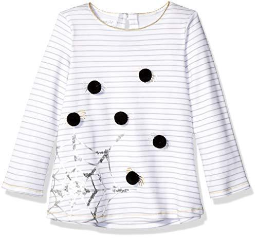 Mud Pie Girls' Little Halloween Spiderweb Long Sleeve Tunic, Black, LG/ 4T-5T]()