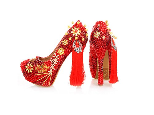 Heel Plateforme 14cm Red Femme Rouge Minitoo qzSwTnvHw