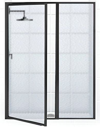 Coastal Shower Doors L31IL24.66O-A Legend Series Framed Hinge Swing Shower Door with Inline Panel in Obscure Glass, 55