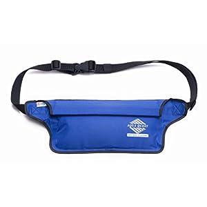 41CULJsI7nL. SS300  - Aqua Quest AQUAROO Blue Waterproof Running Belt Hidden Wallet for Boating, Kayaking, Biking, Jogging
