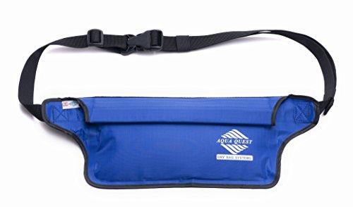 41CULJsI7nL - Aqua Quest AQUAROO Blue Waterproof Running Belt Hidden Wallet for Boating, Kayaking, Biking, Jogging
