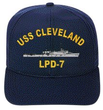 7 Caps (USS CLEVELAND LPD-7 EMBROIDERED SHIP CAP)