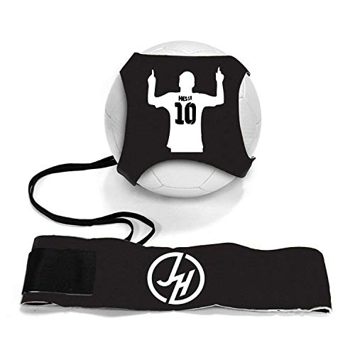 iSport Gifts Messi #10 StarKick Solo Soccer Trainer Aid ✓ Adjustable Soccer Training Belt Rebounder ✓ Fits Soccer Ball Size 3, 4 & 5BALL NOT Included (StarKick Soccer Trainer, Messi #10)