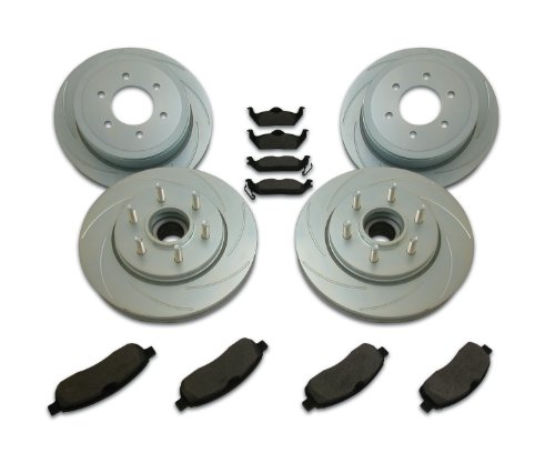 SSBC A2361001 Short Stop Slotted Rotor Upgrade Kit for '04-07 F150 2WD 6 Lug (Ssbc Rotors Turbo Slotted)