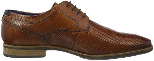 Bugatti 311189012100, Zapatos de Cordones Derby para Hombre Marrón (Cognac 6300)