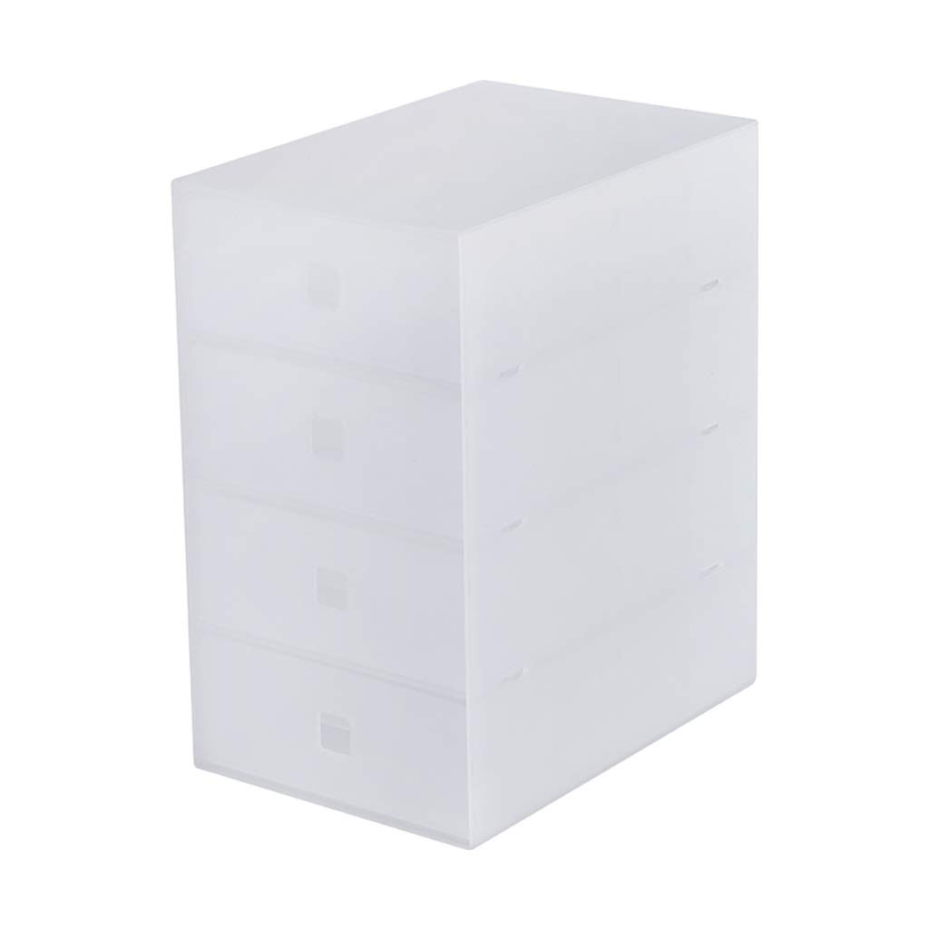File Cabinet Desktop Cabinet Storage Organizer Organizer 4 Drawers 1724.530 (cm) Plastic - Color: Transparent Filing cabinets